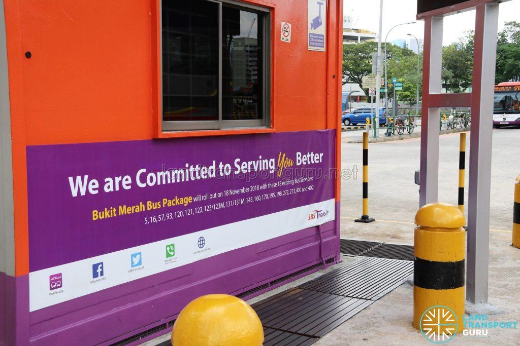 Queen Street Bus Terminal - Bukit Merah Bus Package Notice