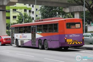 SBS Transit Volvo B10M MkIV Superlong (SBS997A) - Nearside Rear