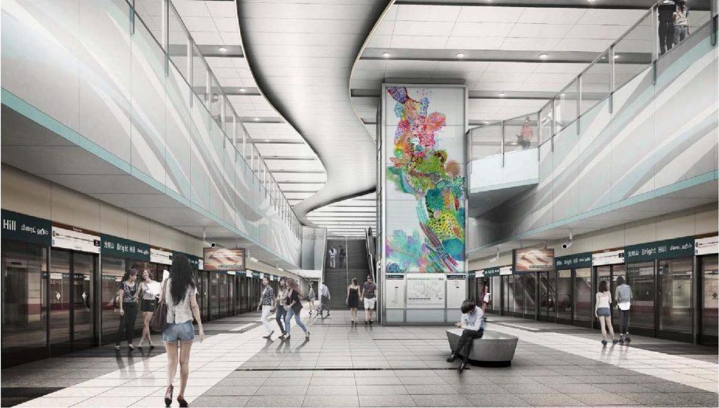 Artist's Impression for TE07 Bright Hill MRT Station (Photo: LTA)