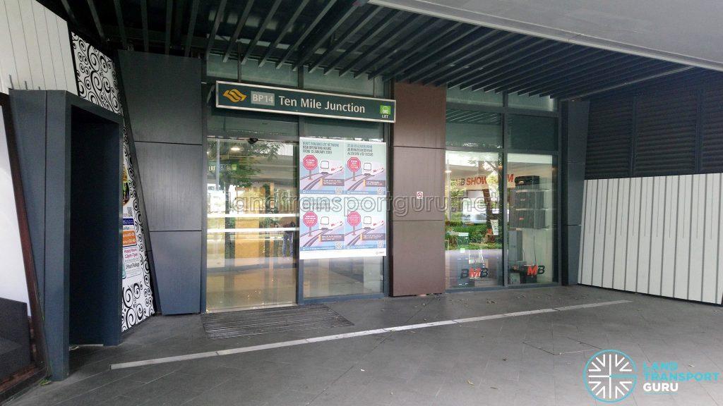Ten Mile Junction LRT Station Entrance (Jan 2019)