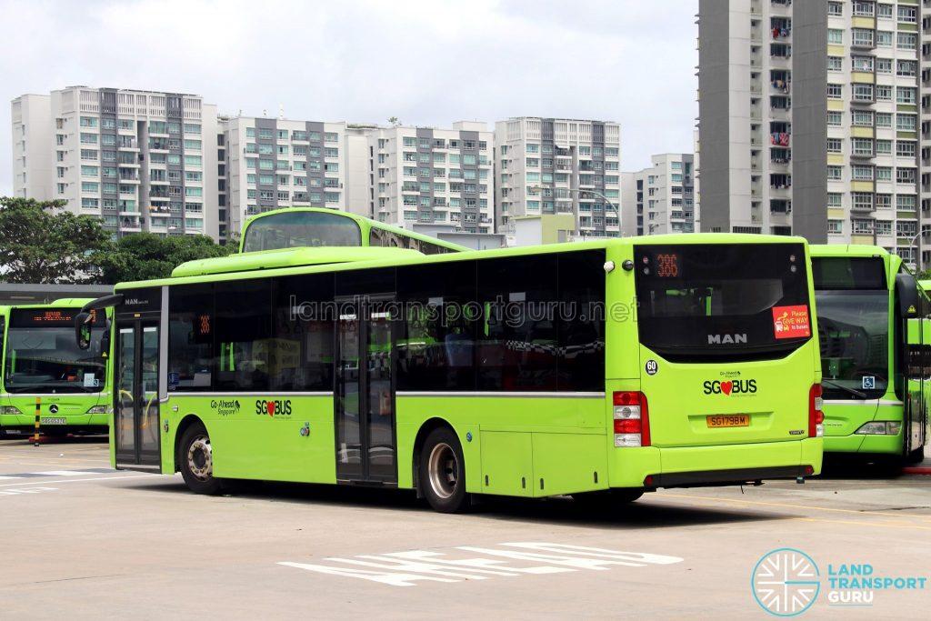 MAN A22 Euro 6 Rear (SG1798M) - Go-Ahead Bus Service 386