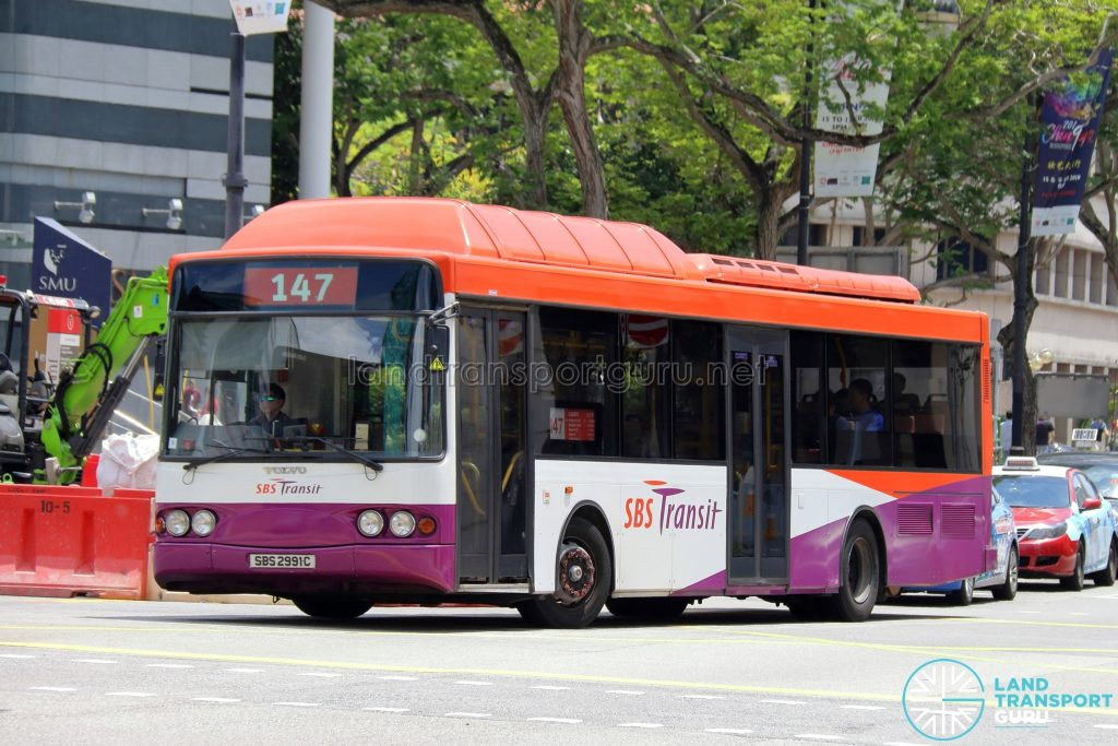 Service 147 - SBS Transit Volvo B10BLE CNG (SBS2991C)