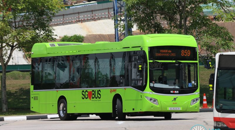 SMRT Bus Service 859 - Volvo B5LH (SG3032B)