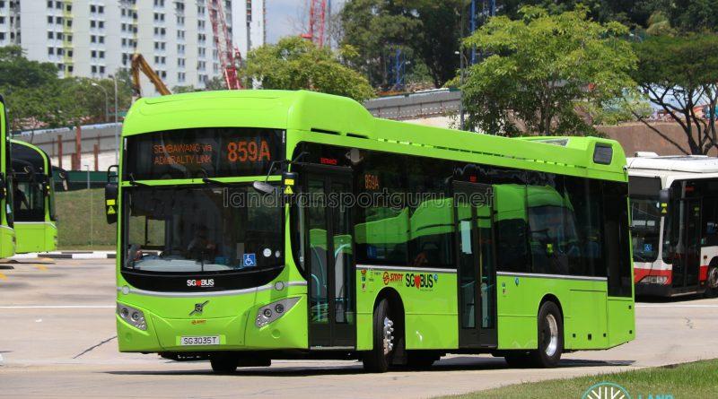SMRT Bus Service 859A - Volvo B5LH (SG3035T)