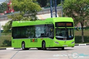 SMRT Bus Service 859B - Volvo B5LH (SG3038K)
