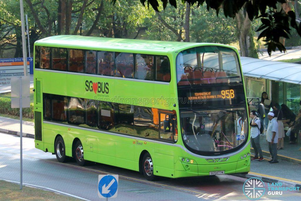 Short Trip Service 95B - SBS Transit Volvo B9TL Wright (SG5477M)