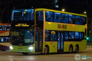 Shuttle 21 - SMRT Buses MAN Lion's City DD A95 (SG5850T)