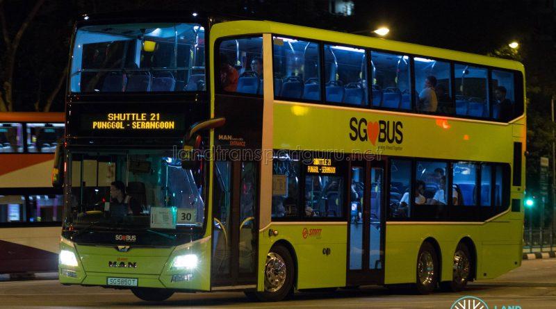 Shuttle 21 - SMRT Buses MAN Lion's City DD A95 (SG5850T)
