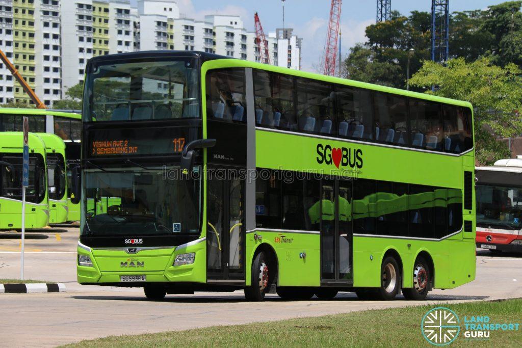 SBS Transit Bus Service 117 - MAN Lion's City DD A95 (SG5938A)