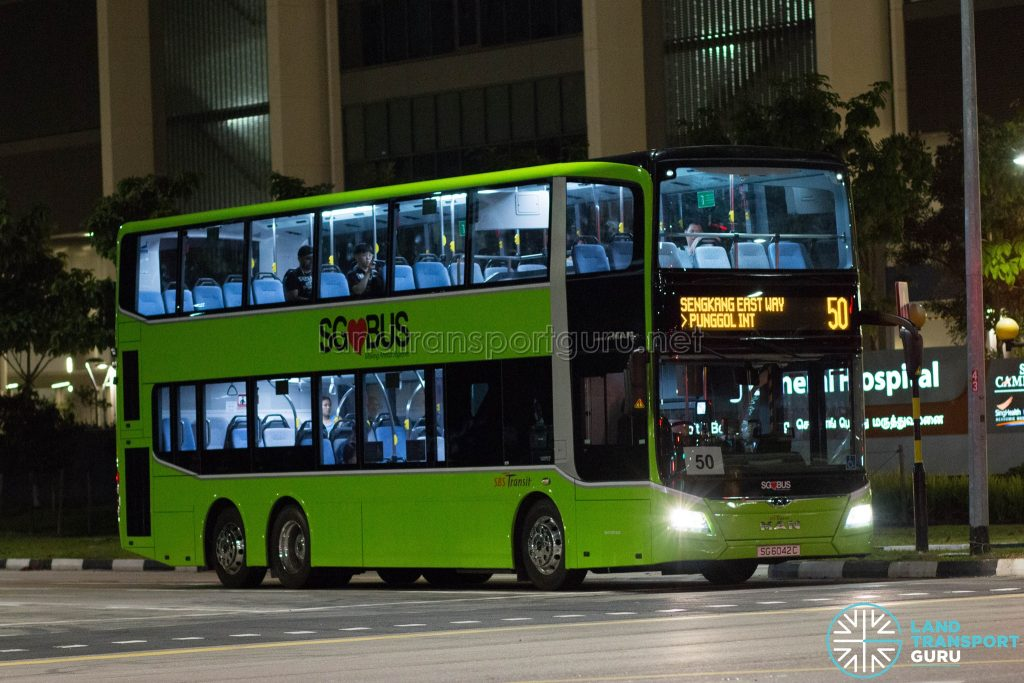 SBS Transit Bus Service 50 - MAN Lion's City DD A95 (SG6042C)
