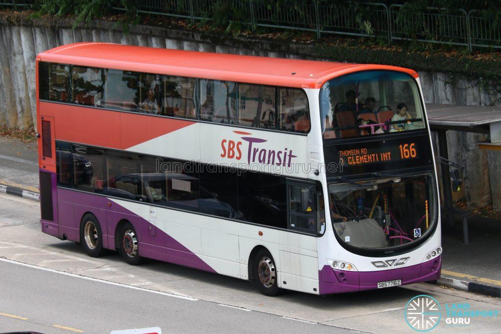 Bus Service 166 - SBS Transit Volvo B9TL Wright (SBS7716Z)