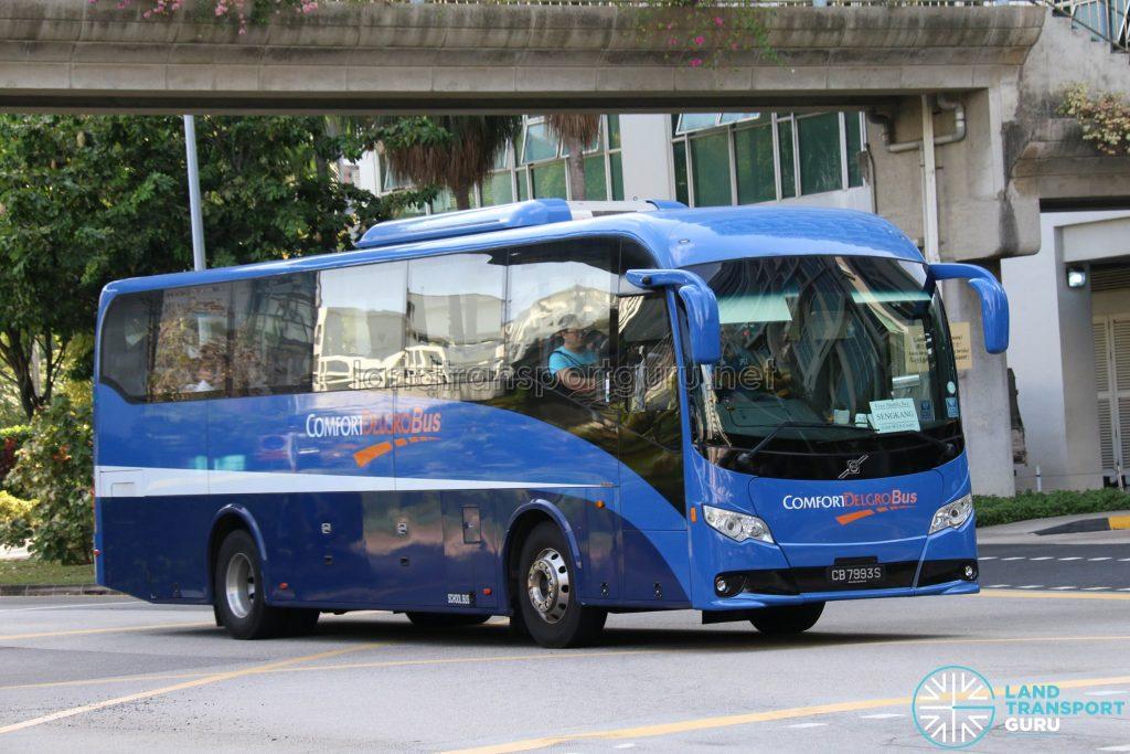 ComfortDelgro Volvo B7R TQ Alpha: Tampines Retail Park - Sengkang Shuttle (CB7993S)