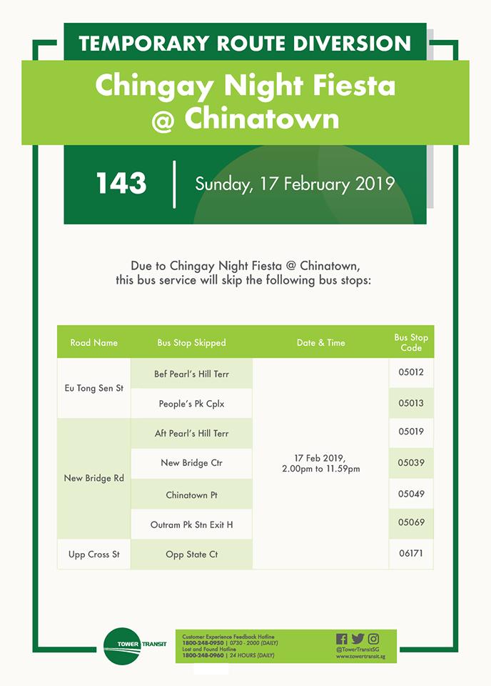 Tower Transit Poster Chingay Night Fiesta @ Chinatown Bus Diversion