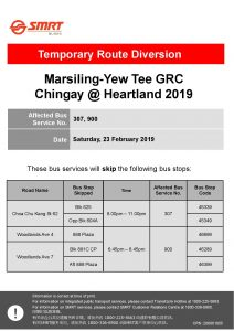 SMRT Buses Poster for Marsiling-Yew Tee GRC Chingay @ Heartland 2019