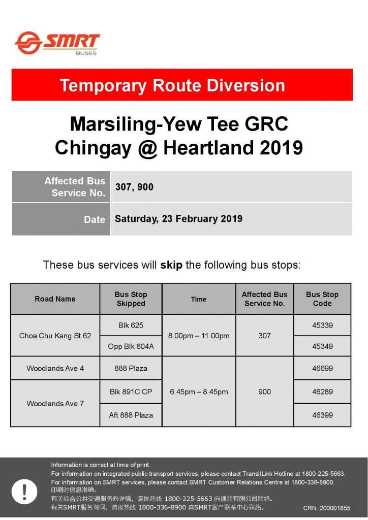 SMRT Buses Poster for Marsiling-Yew Tee GRC Chingay @ Heartland 2019