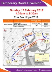 SBS Transit Poster for Run For Hope 2019