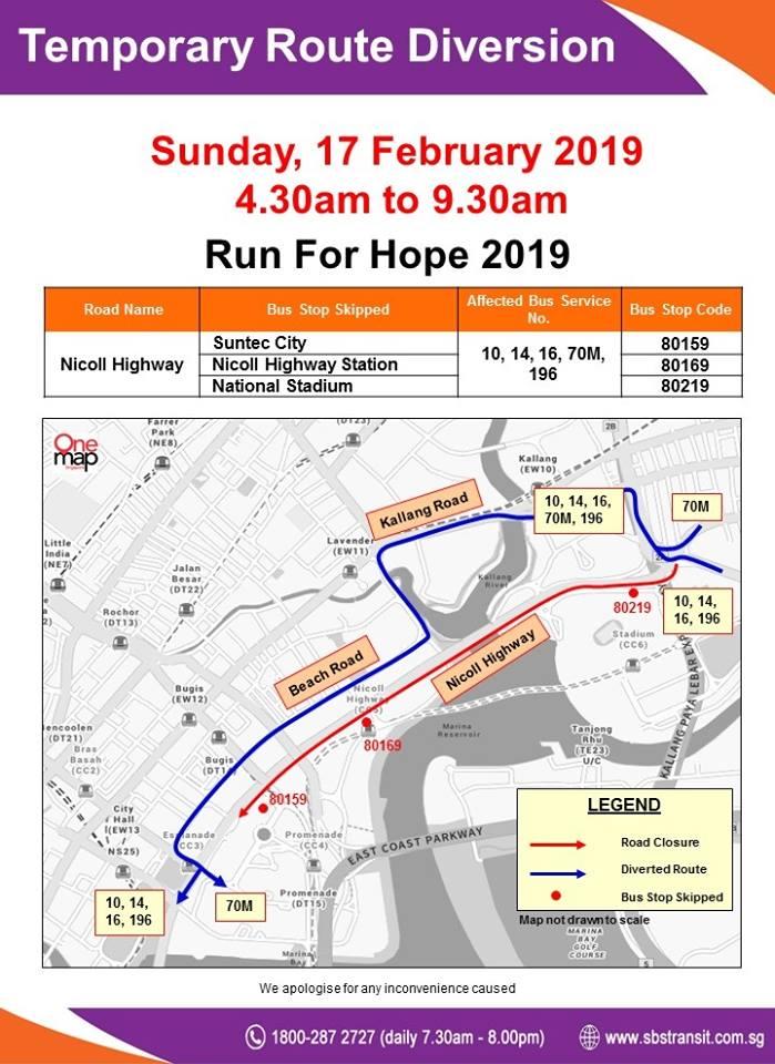 SBS Transit Poster for Run For Hope 2019