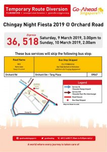 Go-Ahead Singapore Poster for Chingay Night Fiesta 2019 @ Orchard Road