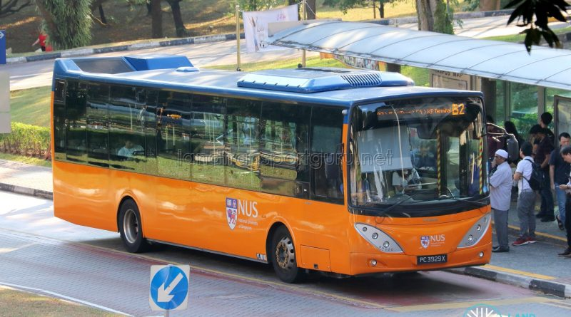 NUS ISB B2 - ComfortDelGro Bus Volvo B9L (PC3929X)