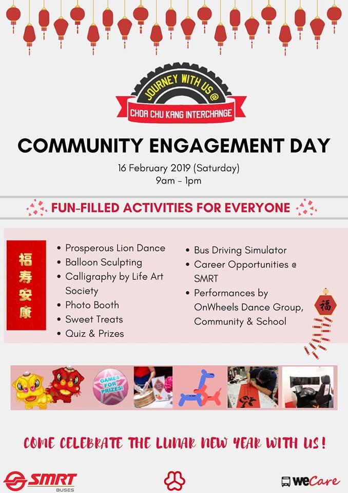 SMRT Buses Choa Chu Kang Community Engagement Day Poster