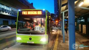 Free Bridging Bus (26 Mar 2019) - SMRT Buses Task Force 50 Mercedes-Benz Citaro (SG1119Z)