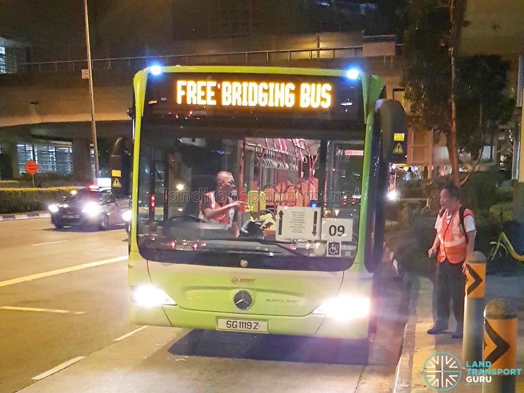 Free Bridging Bus (15 Mar 2019) - SMRT Buses Task Force 50 Mercedes-Benz Citaro (SG1119Z)