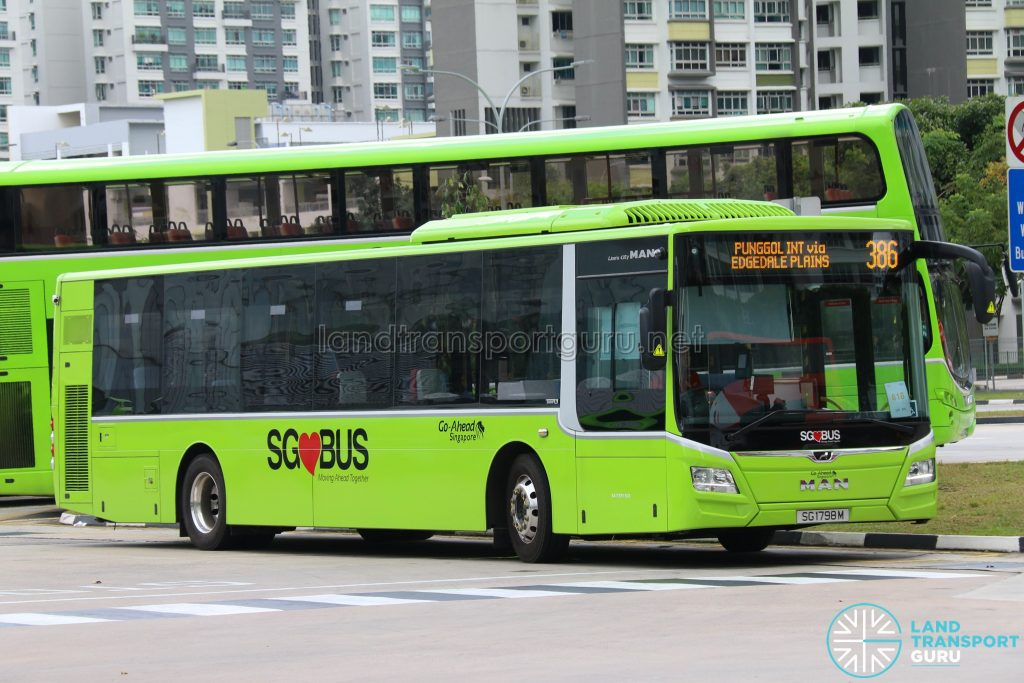 Bus 386 - Go-Ahead MAN Lion's City A22 (SG1798M)
