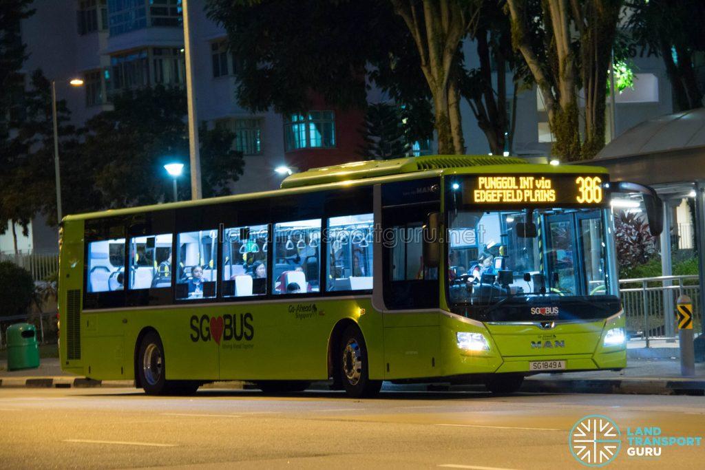 Bus 386 - Go-Ahead MAN Lion's City A22 (SG1849A)