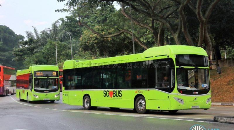 SBS Transit Bus Service 93 - Volvo B5LH (SG3026U) & (SG3040C)