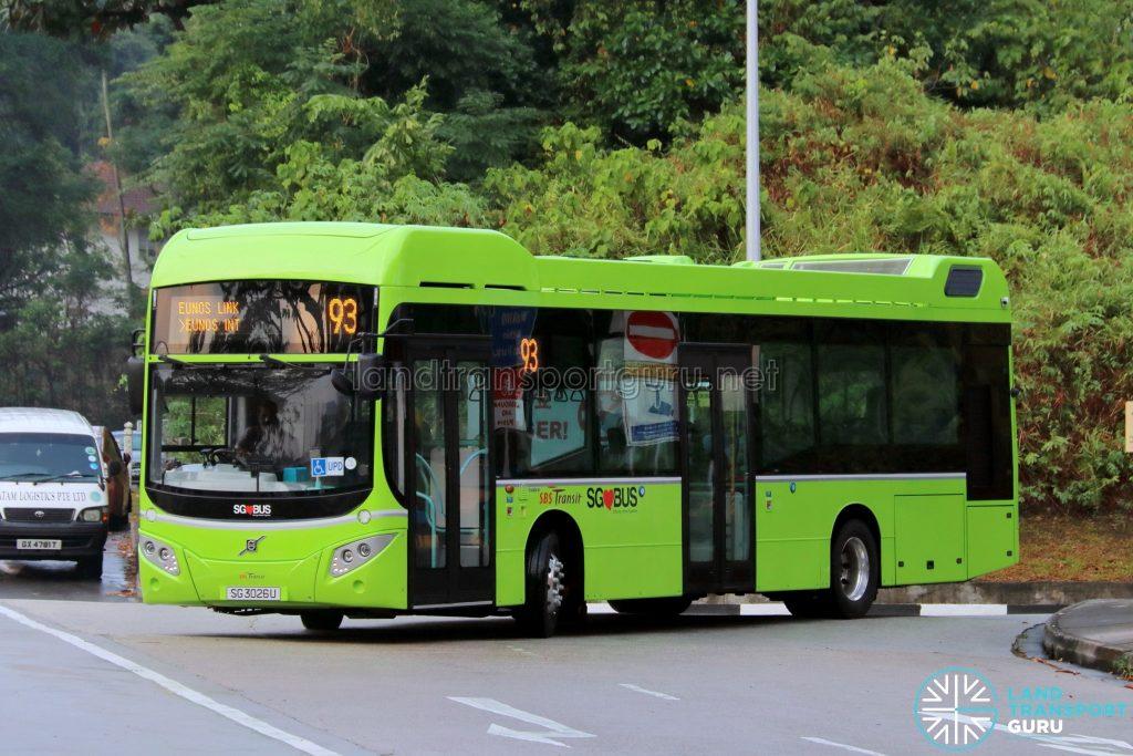 SBS Transit Bus Service 93 - Volvo B5LH (SG3026U)