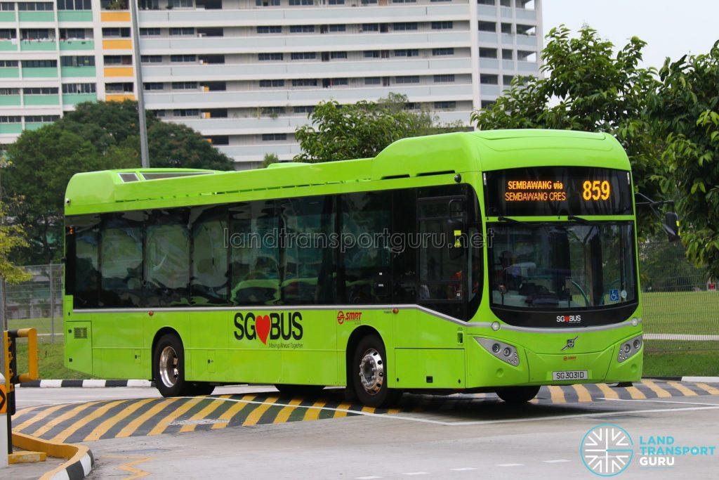 Bus 859 - SMRT Buses Volvo B5LH (SG3031D)