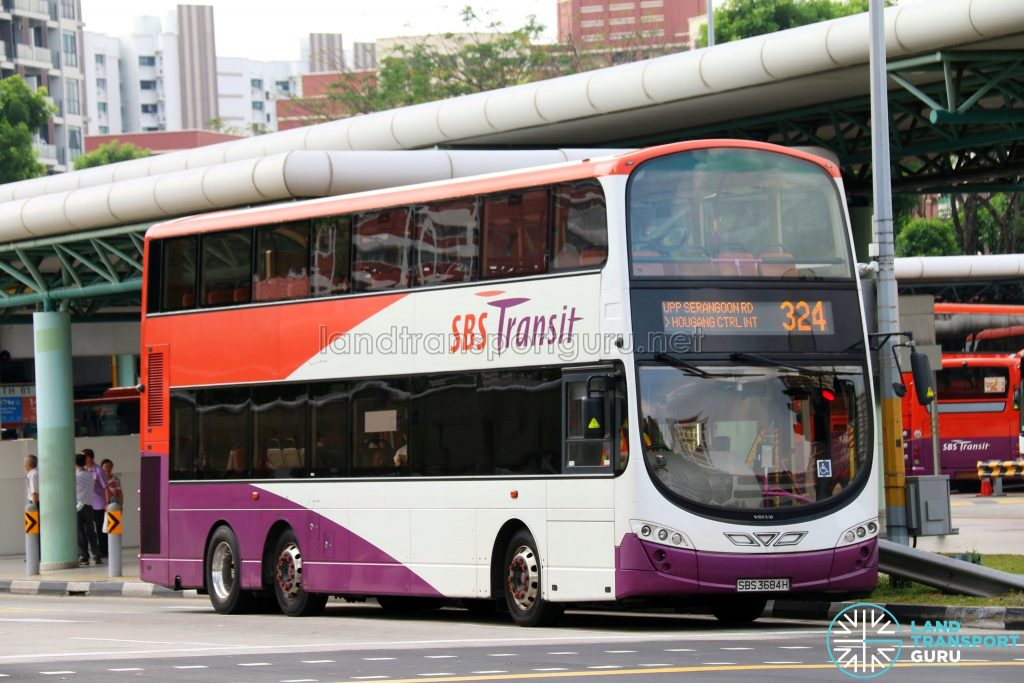 Feeder Bus Service 324 - SBS Transit Volvo B9TL Wright (SBS3684H)