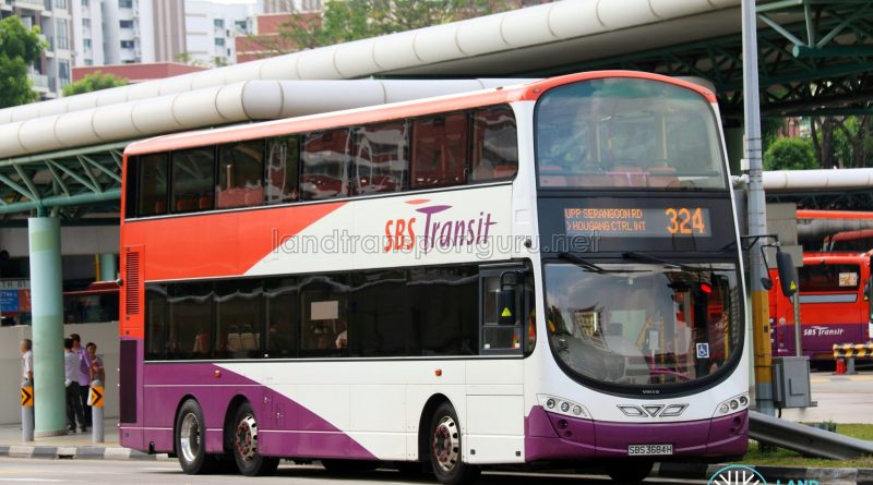 Feeder Bus Service 324 - SBS Transit Volvo B9TL Wright (SBS3684H)