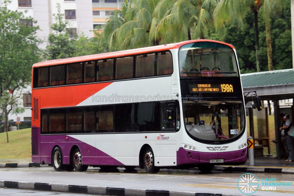 Bus Service 198A - SBS Transit Volvo B9TL Wright (SBS3854J)