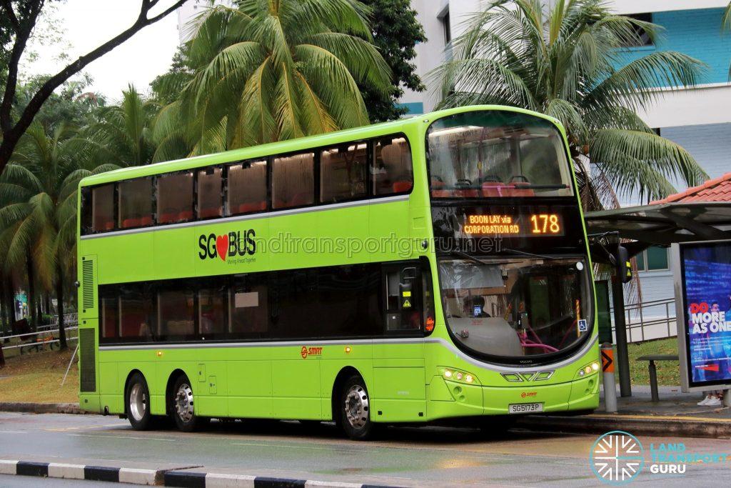 Bus Service 178 - SMRT Buses Volvo B9TL Wright (SG5173P)