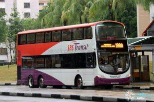 Bus Service 198A - SBS Transit Volvo B9TL Wright (SG5343R)