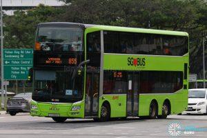 Bus 855 - SMRT Buses MAN A95 (SG5855E)