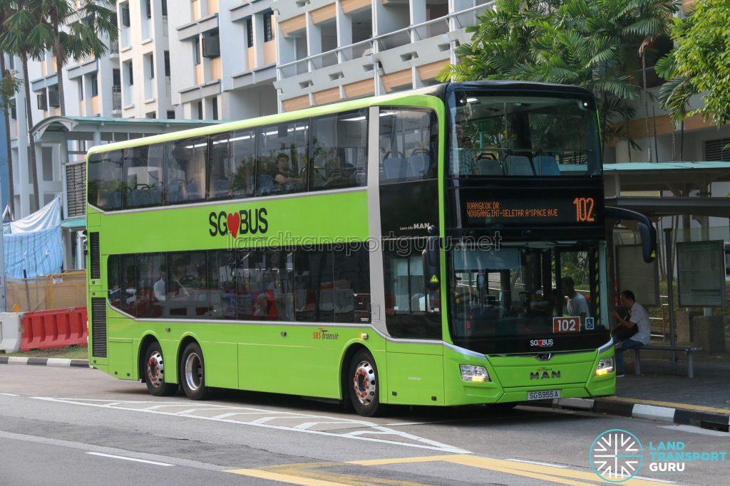 Bus 102 - SBS Transit MAN Lion's City DD A95 (SG5955A)