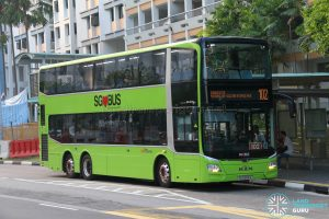 Bus 102 - SBS Transit MAN Lion's City DD A95 (SG5955A)