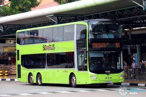 Bus Service 161 - MAN A95 Euro 6 (SG5971C)