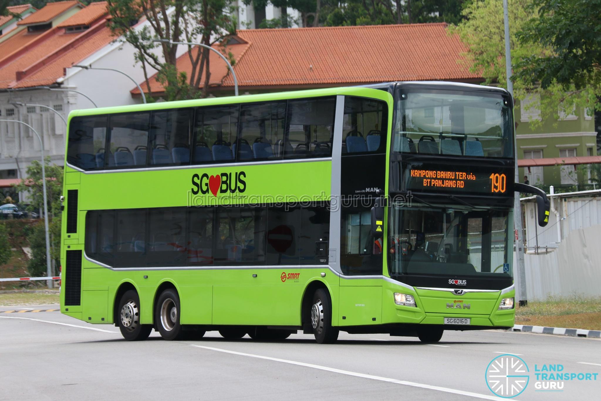 Bus 190 - SMRT Buses MAN A95 (SG6016D)