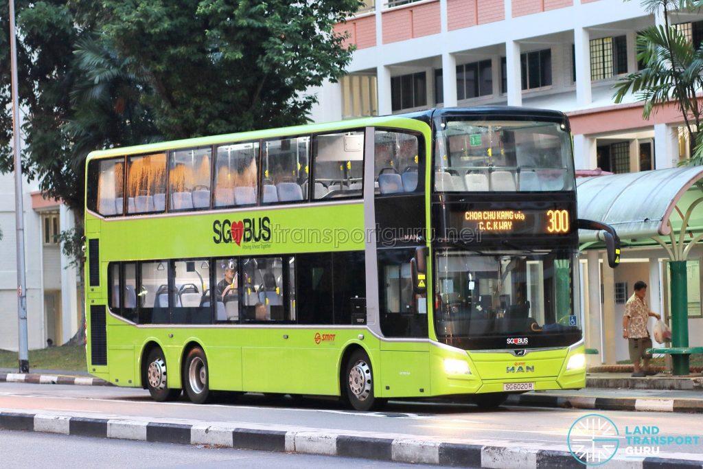 Bus 300 - SMRT Buses MAN A95 (SG6020R)