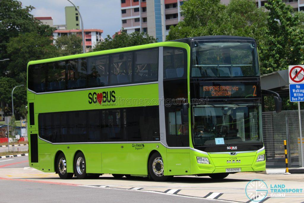 Bus 2 - Go-Ahead MAN Lion's City DD A95 (SG6093E)