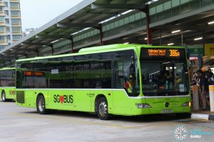 Bus 386A: Go-Ahead Mercedes-Benz Citaro (SBS6491C)