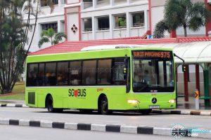 Bus 975 - SMRT Buses Mercedes-Benz OC500LE (SMB90A)