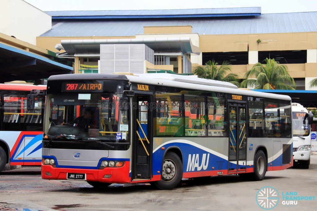 Maju Higer KLQ6128G (JNX2777) - Route 207