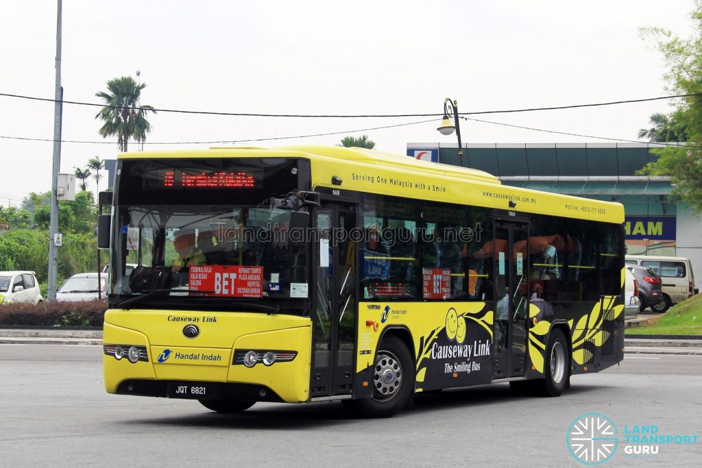 Causeway Link Yutong ZK6118HGA (JQT6821) - Route 7B; Operating with BET1 plates