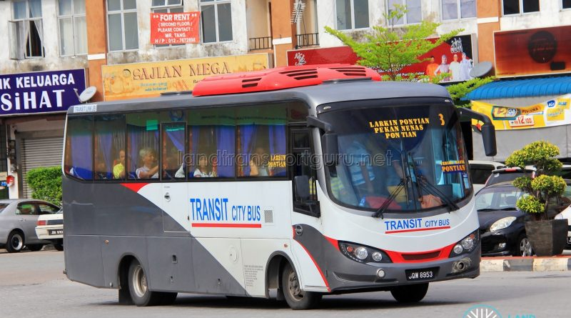 Regular bus operated on Route 3