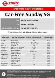 SMRT Buses Poster for Car-Free Sunday Mar 2019