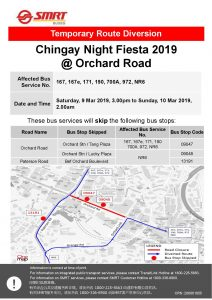 SMRT Buses Poster for Chingay Night Fiesta 2019 @ Orchard Road